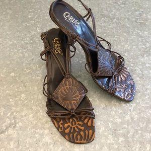 Carlos Santana Mambo2 Copper Metallic Sandal SZ 9M